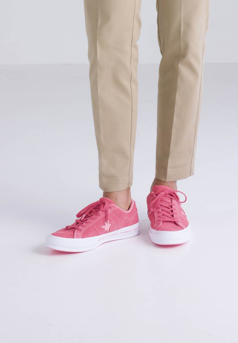 One Converse Pink nbsp;textile Trainers Paradise Pink Ox Star white Pinestripe Lining geranium SqrAq7d