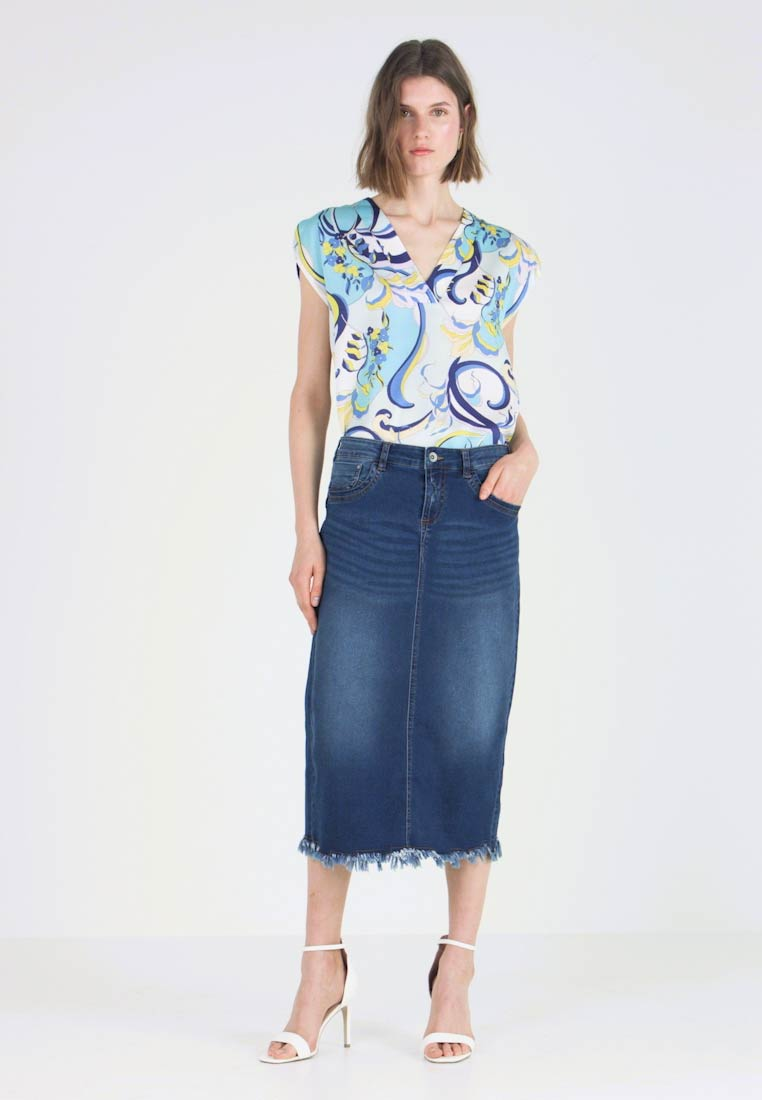 Fiona Jean Denim SkirtJupe En Cream Blue 1Jc3TKlF