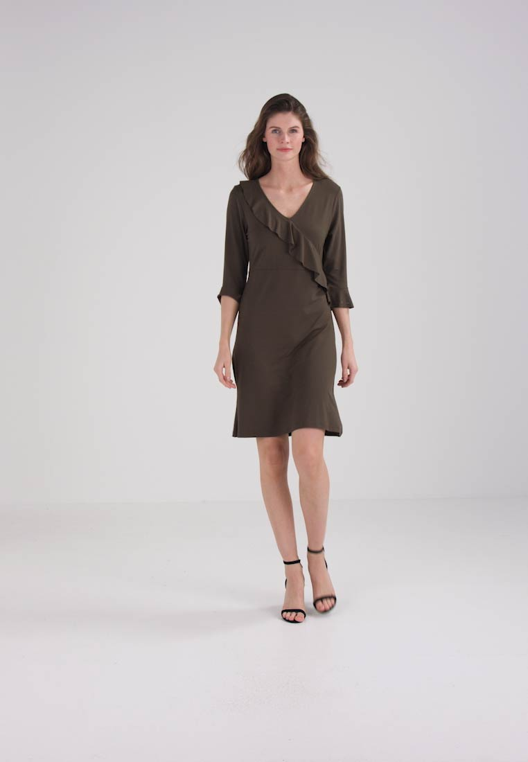 Cream - VILLE DRESS - Korte jurk - crocodile green