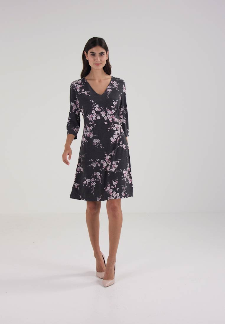 Cream ROSEMARY DRESS - Jerseykjole - black