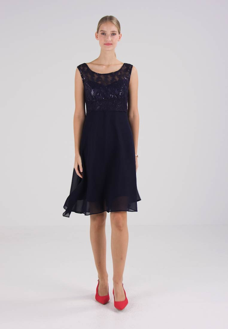 Cream ARABELLA DRESS - Cocktailkjole - royal navy blue