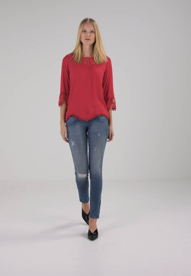 Cream KALANIE BLOUSE - Bluser - red