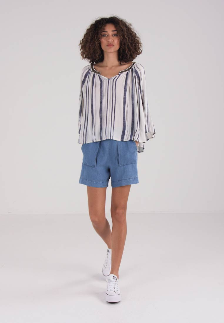Culture ESTELLA BLOUSE - Blouse - blue stripe