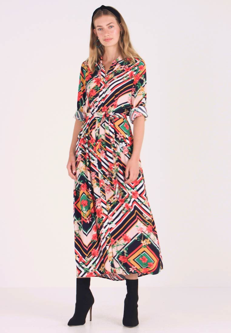 Cortefiel - LONG PRINTED DRESS - Maxikjoler - multicoloured