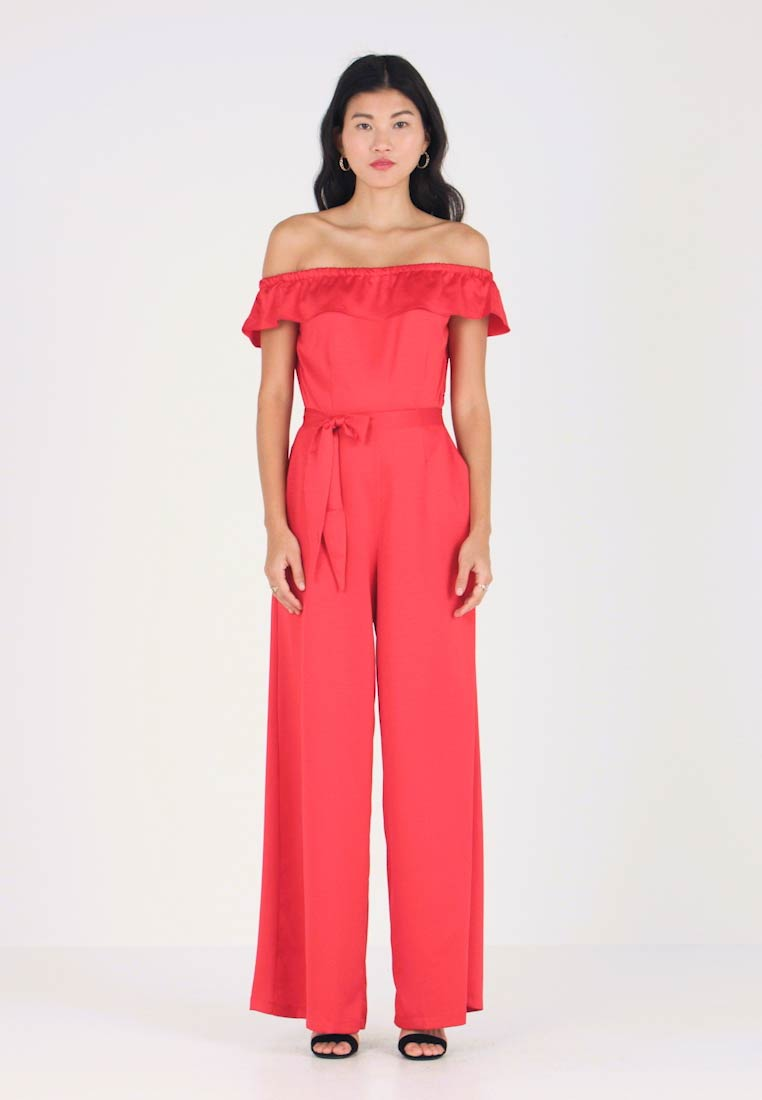 Cortefiel - OFF THE SHOULDER - Overall / Jumpsuit /Buksedragter - red