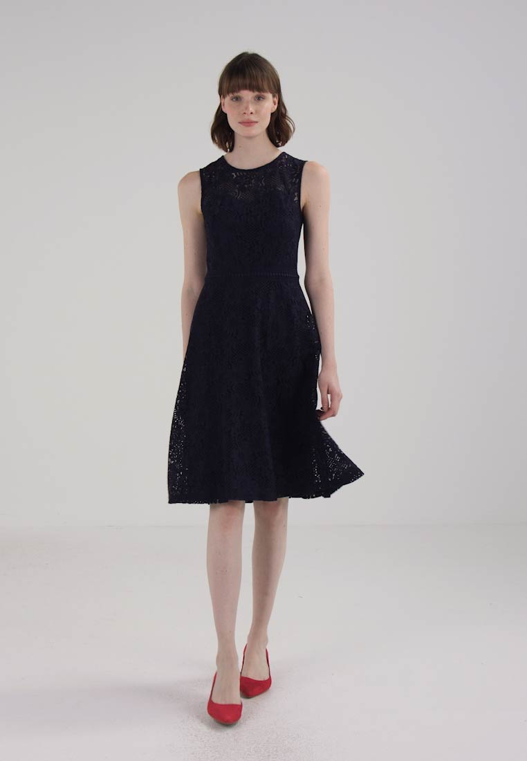 And Robe De Flare Navy Dorothy Dress Fit fr Zalando Perkins Soirée DHeEYI29W