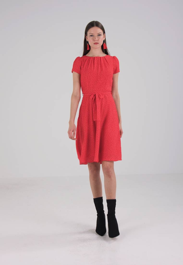 Dorothy Perkins PLEAT SPOT DRESS - Korte jurk