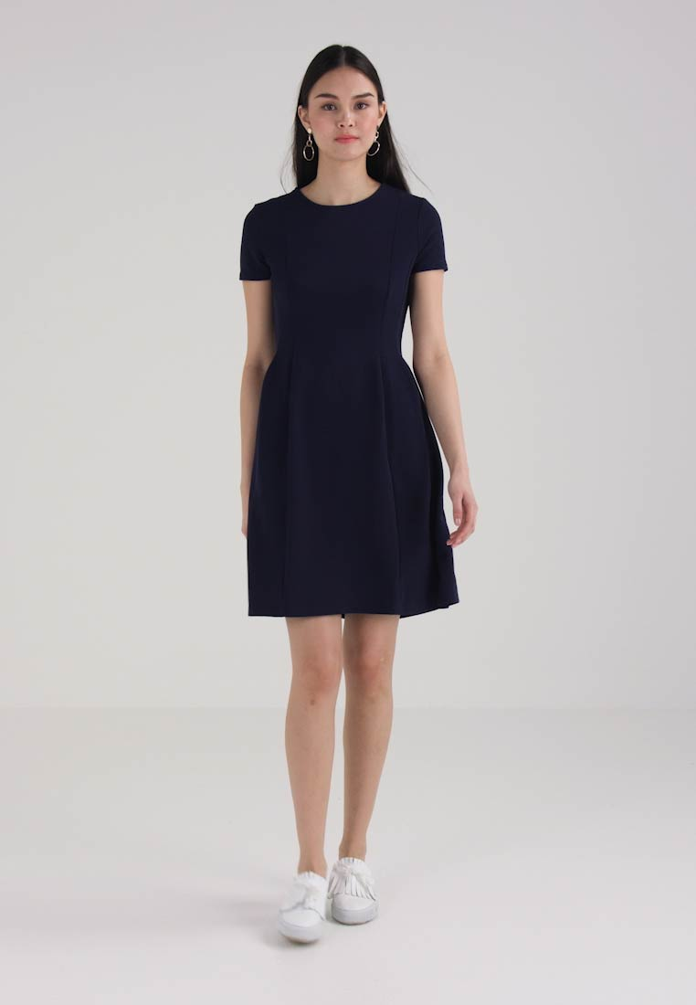 Dorothy Perkins SEAMED FIT AND FLARE - Sommerkjole - navy