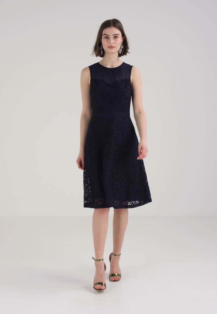 Dorothy Perkins SHEER MIDI DRESS - Sommerkjole - navy