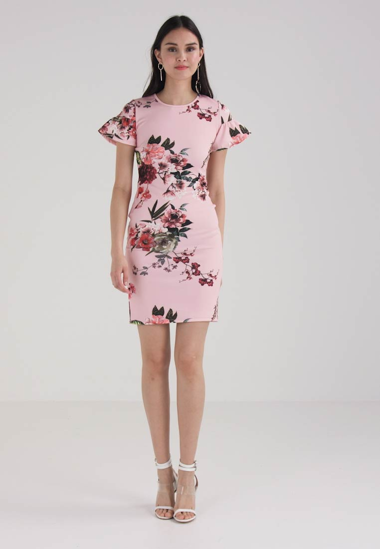 Dorothy Perkins - FRILL SLEEVE DRESS - Jerseykleid - blush