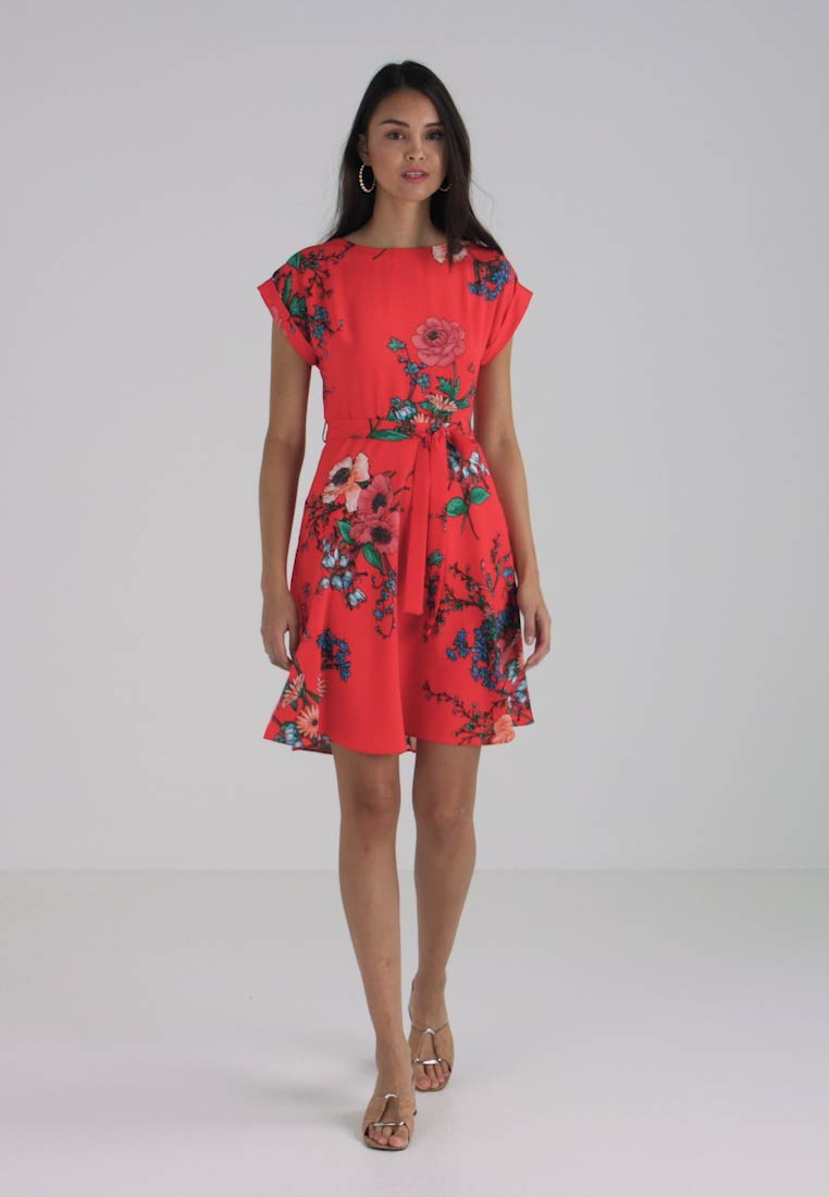 FIT Dorothy Sommerkjole Perkins FLORAL AND FLARE NECK V wIZfIq