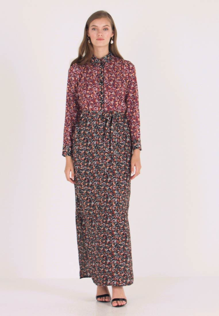 Dorothy Perkins - DRESS - Maxi-jurk - black burgundy