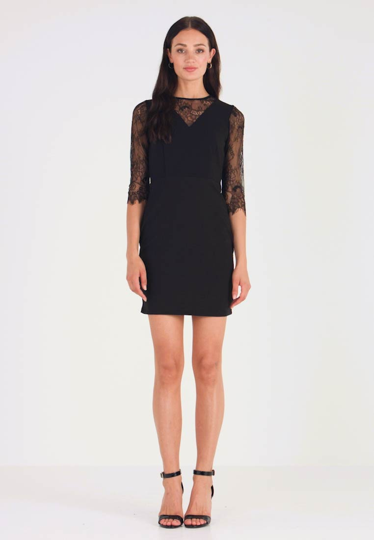 Dorothy Perkins - EYELASH SLEEVE DRESS - Shift dress - black