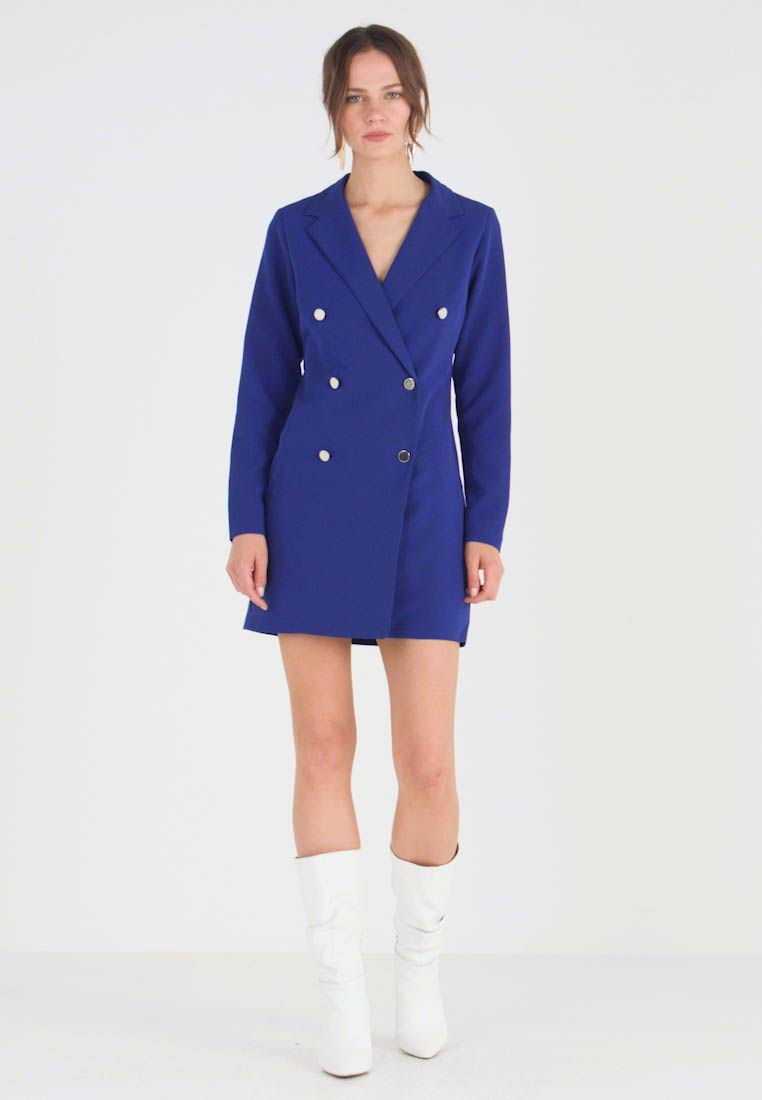 Dorothy Perkins - LOLA SKYE TUXEDO DRESS - Shift dress - cobalt