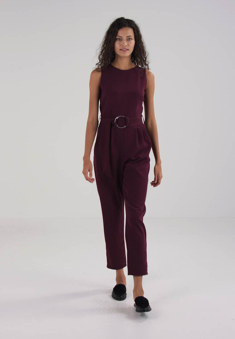 CREPE D RING  - Tuta jumpsuit plum
