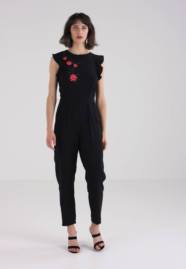 Embroidered Dorothy Embroidered Jumpsuit Black Jumpsuit Perkins Perkins Embroidered Perkins Dorothy Dorothy Black 0ZXSa16wq6