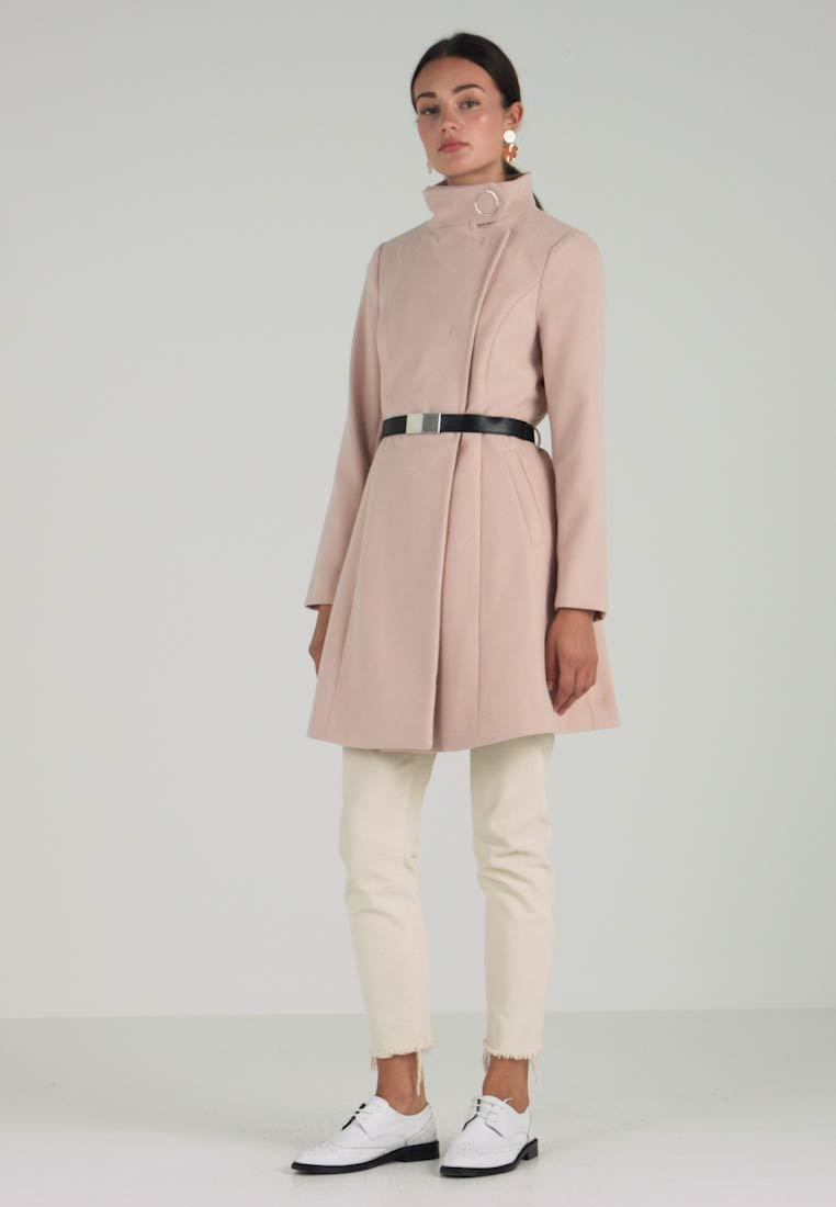 Classic Belted Coat Longline Perkins Blush Dorothy Funnel qUOgXnw