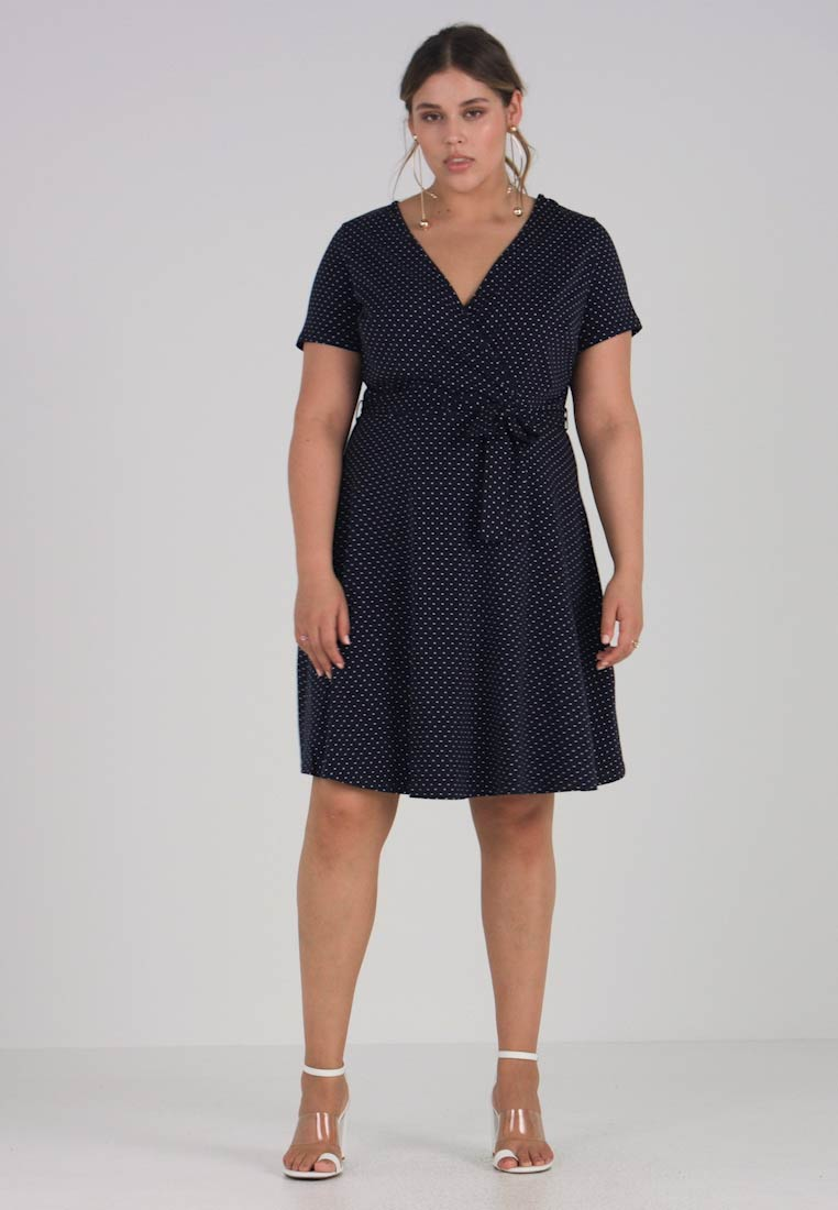 FLORAL SHORT PRINT WRAP AND SLEEVE Curve Jerseykjole DRESS FIT Dorothy Perkins FLARE q1wEIwa