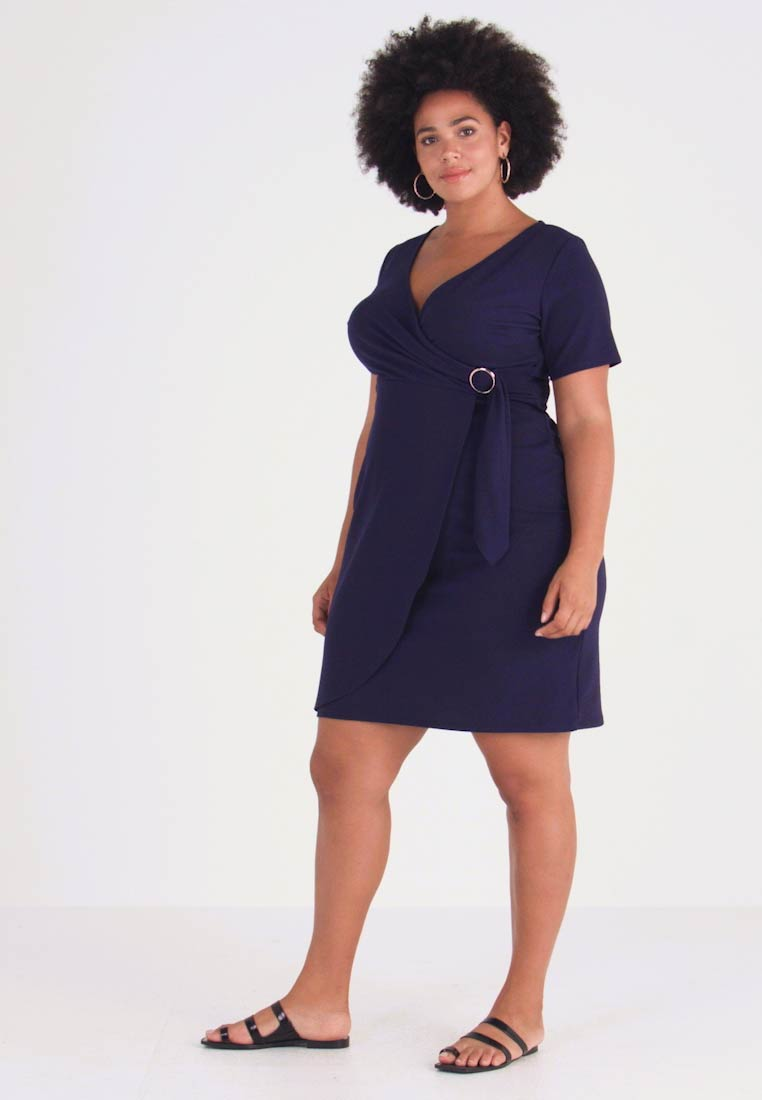 Dorothy Perkins Curve - LIVERPOOL DRESS - Žerzejové šaty - navy
