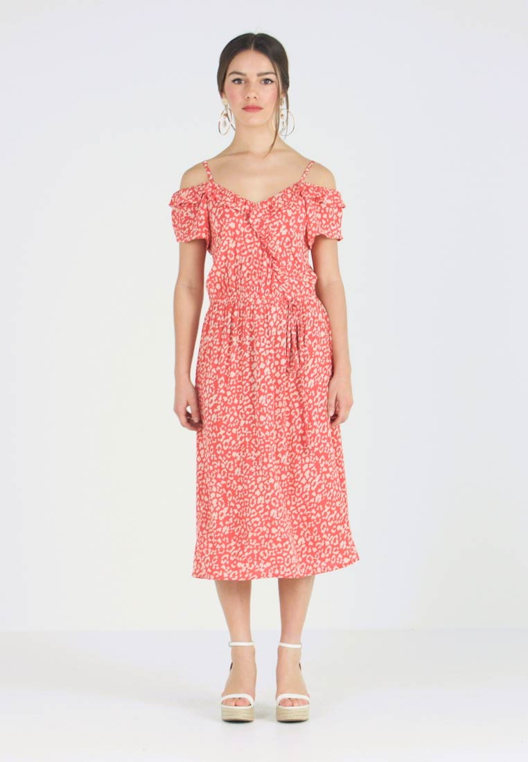 Red Dress Perkins Crinkle Maxikleid Dorothy Petite Leopard nw4fxUqfv