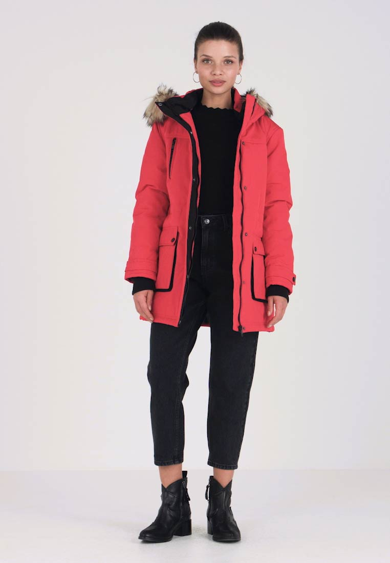 Dorothy Perkins Petite - PADDED TECH PARKA - Winter coat - red
