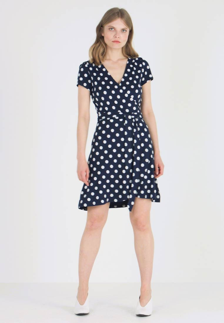 edc by Esprit - WRAP RUFFLE DRESS - Jerseykjoler - navy