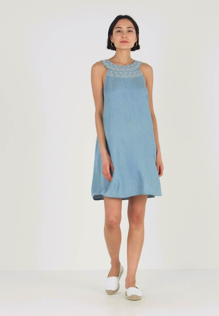 edc by Esprit - MIDI DRESS - Denim dress - blue light wash