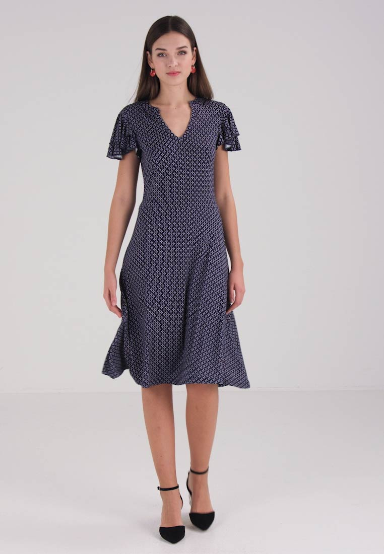 Esprit - VOLANT DRESS - Jerseykleid - navy
