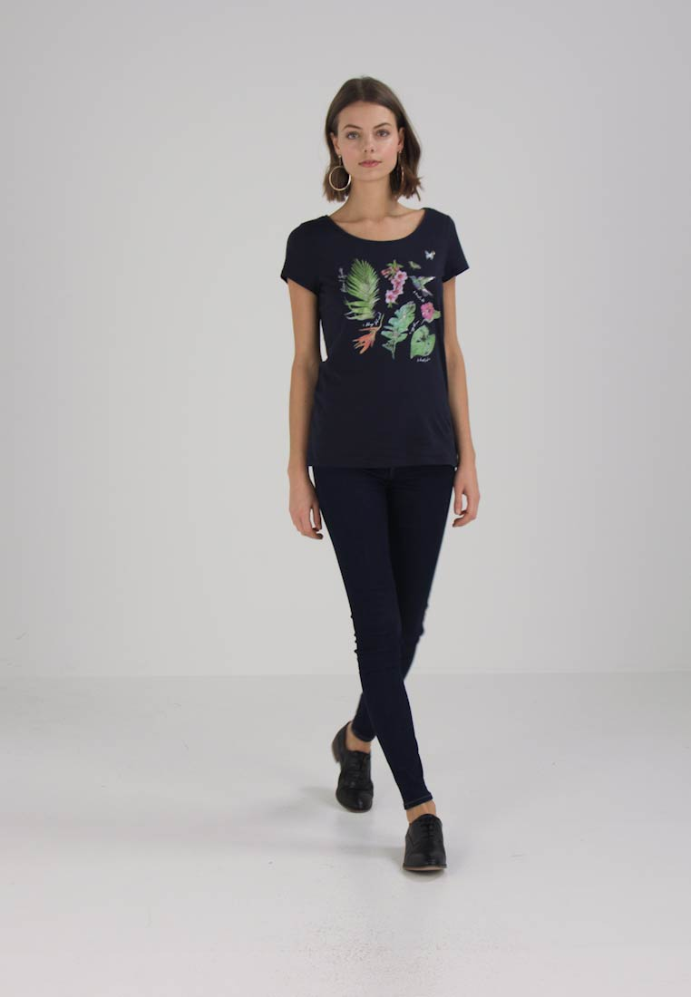 Esprit ADDITIONAL TEE - T-shirts med print - navy