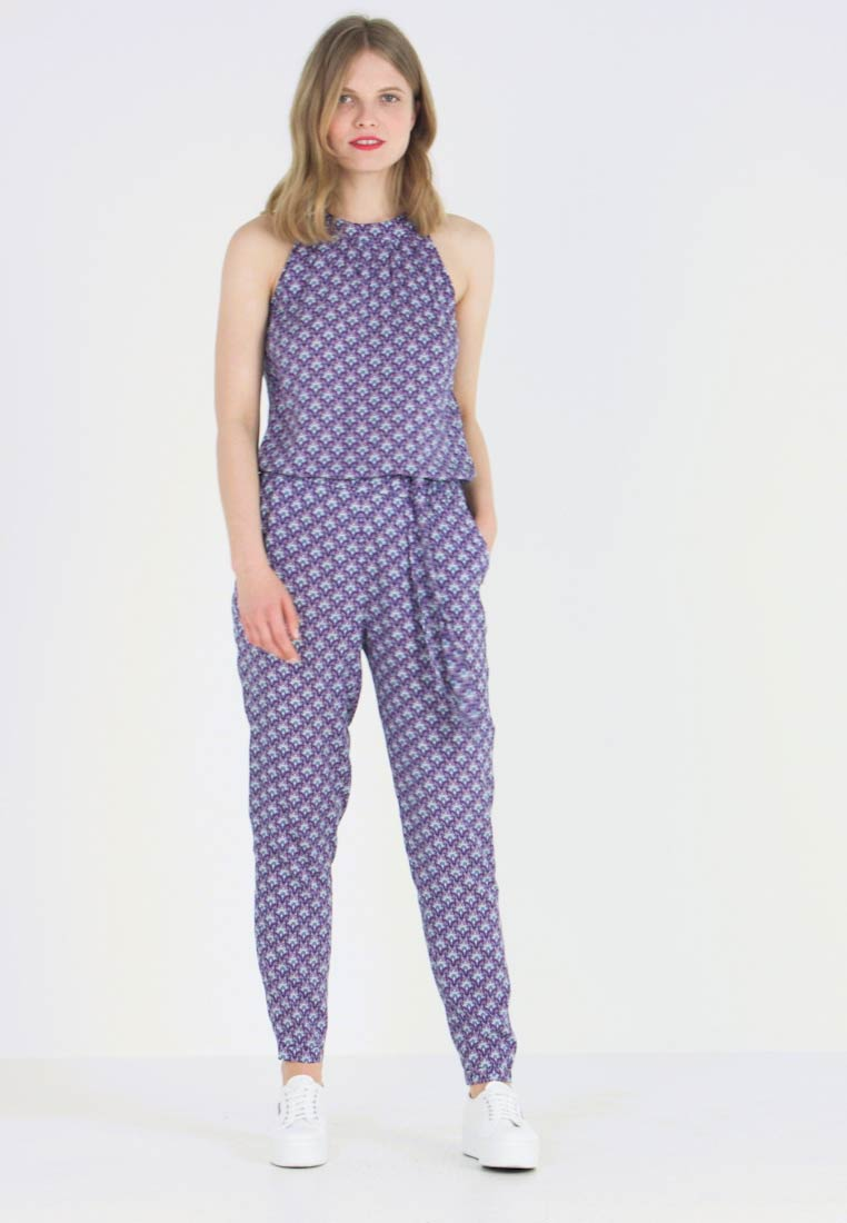 Esprit - PRINTED OVERALL - Jumpsuit - navy