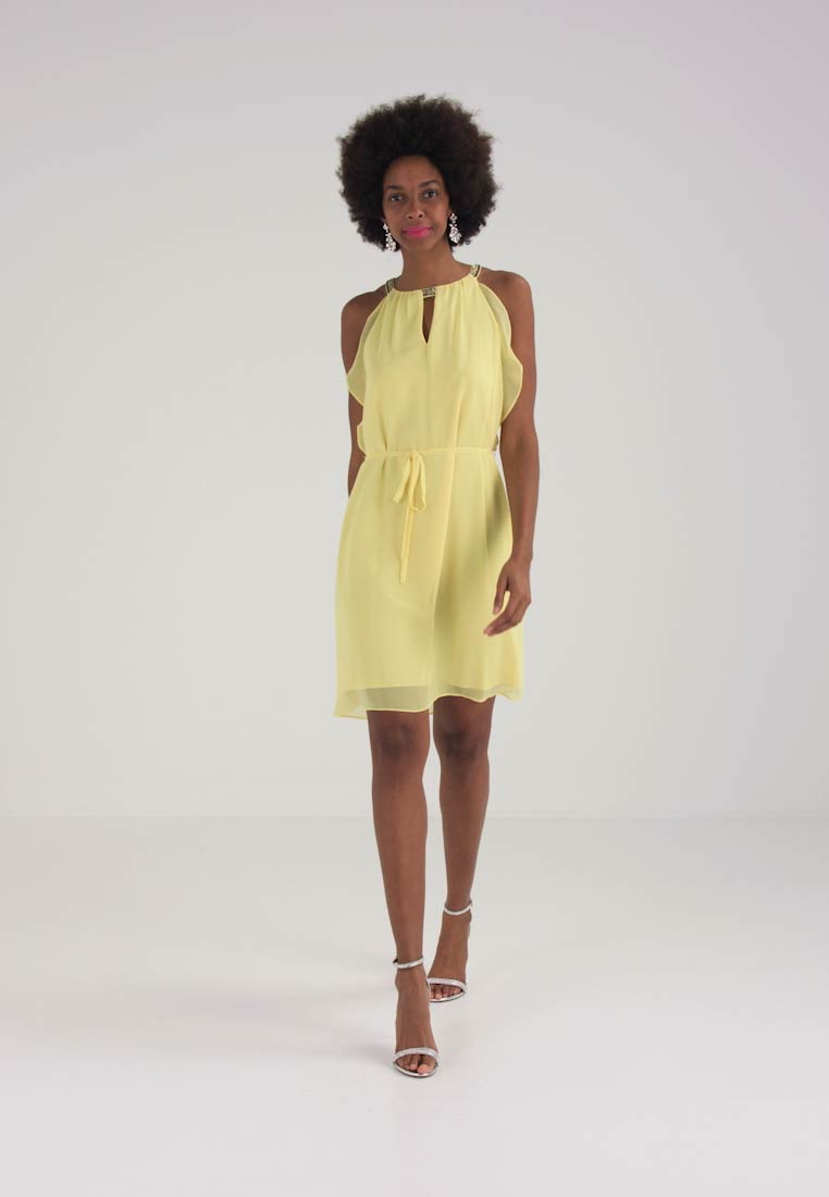 Esprit Collection NEW FLUID  - Cocktailkjole - light yellow