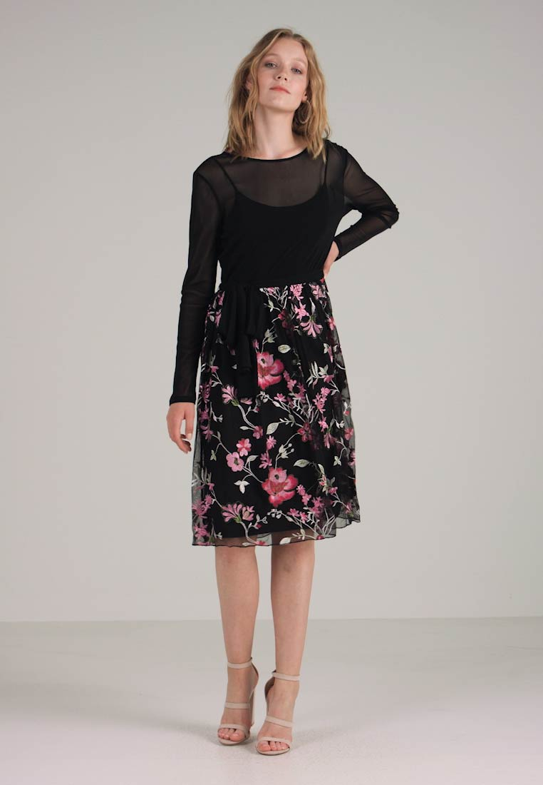 Esprit Black Collection Day Floral Delicate Dress rrwtXq
