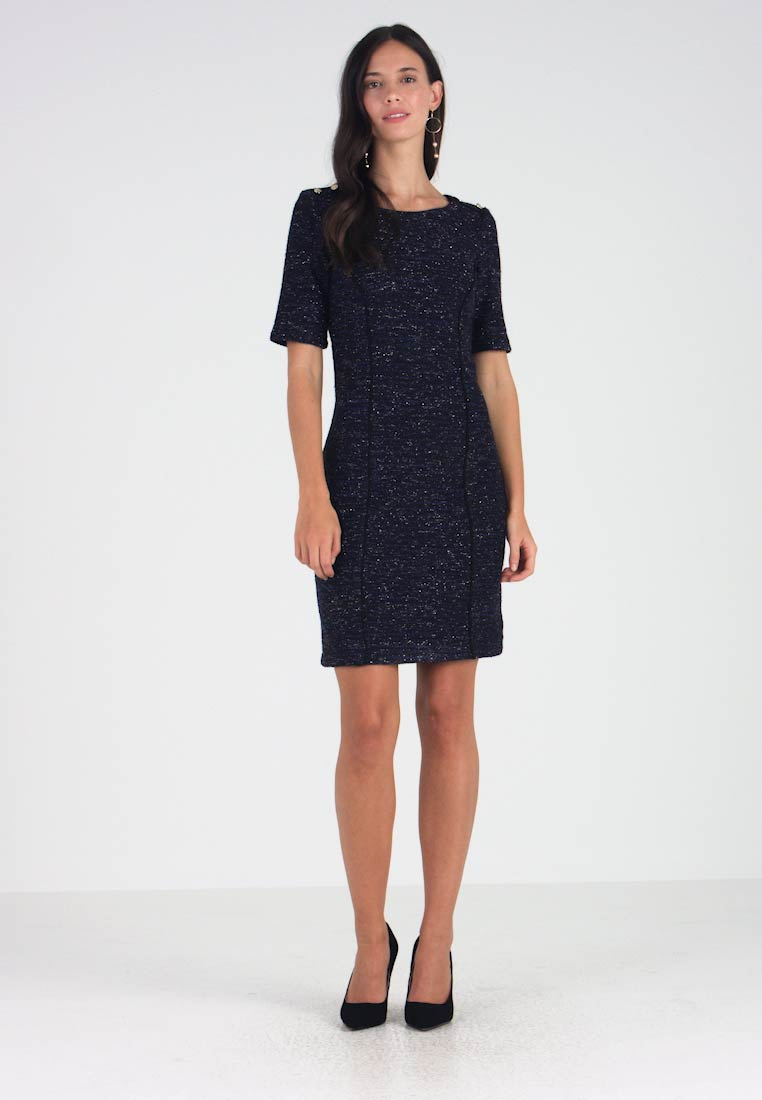 Esprit Collection - COATED DRESS - Shift dress - black