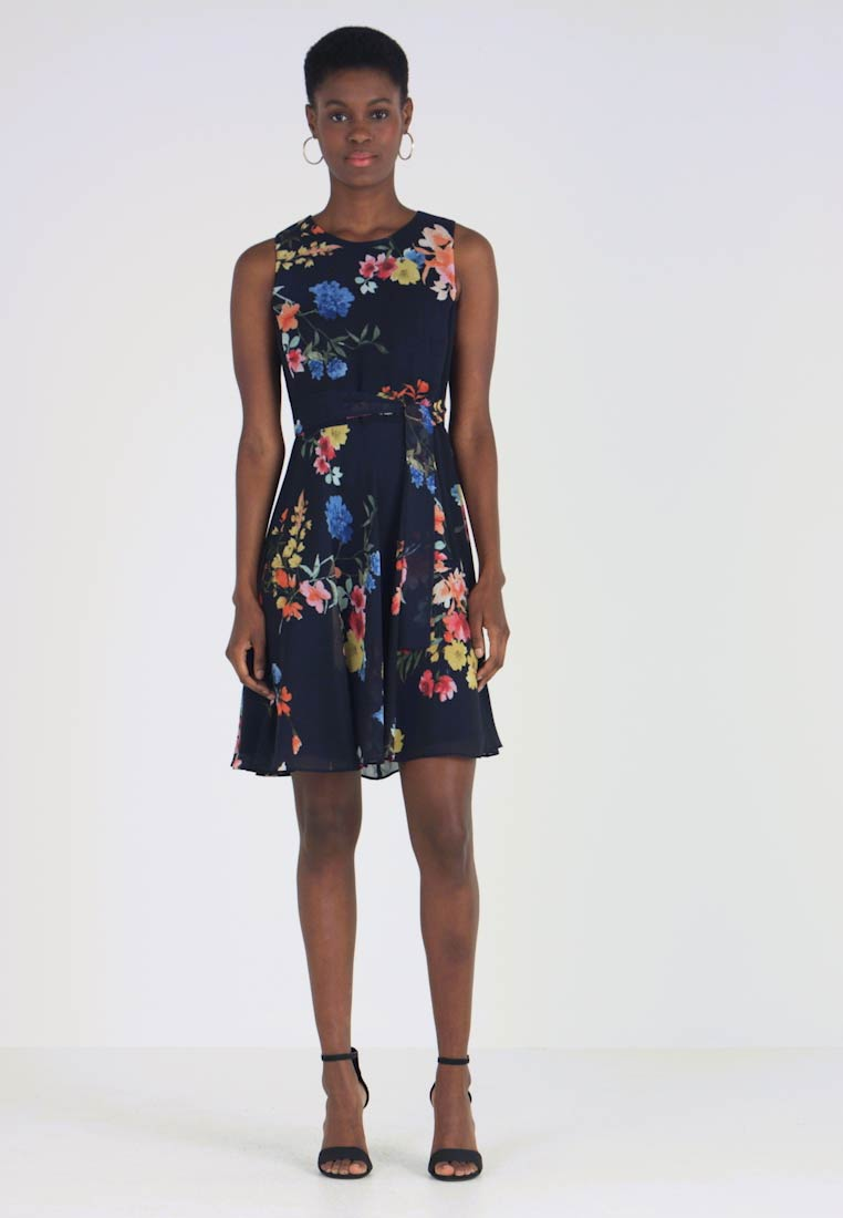Esprit Collection - PRINTED STRET - Freizeitkleid - navy