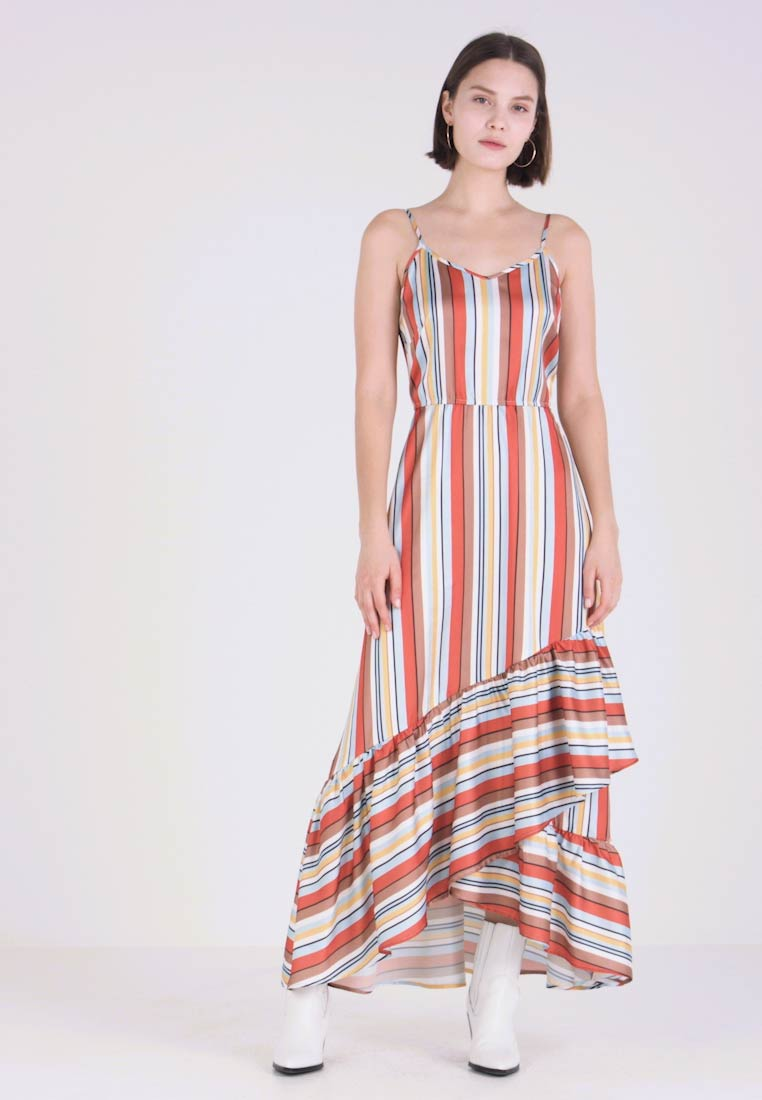 Even&Odd - Maxikleid - blue/red/nude