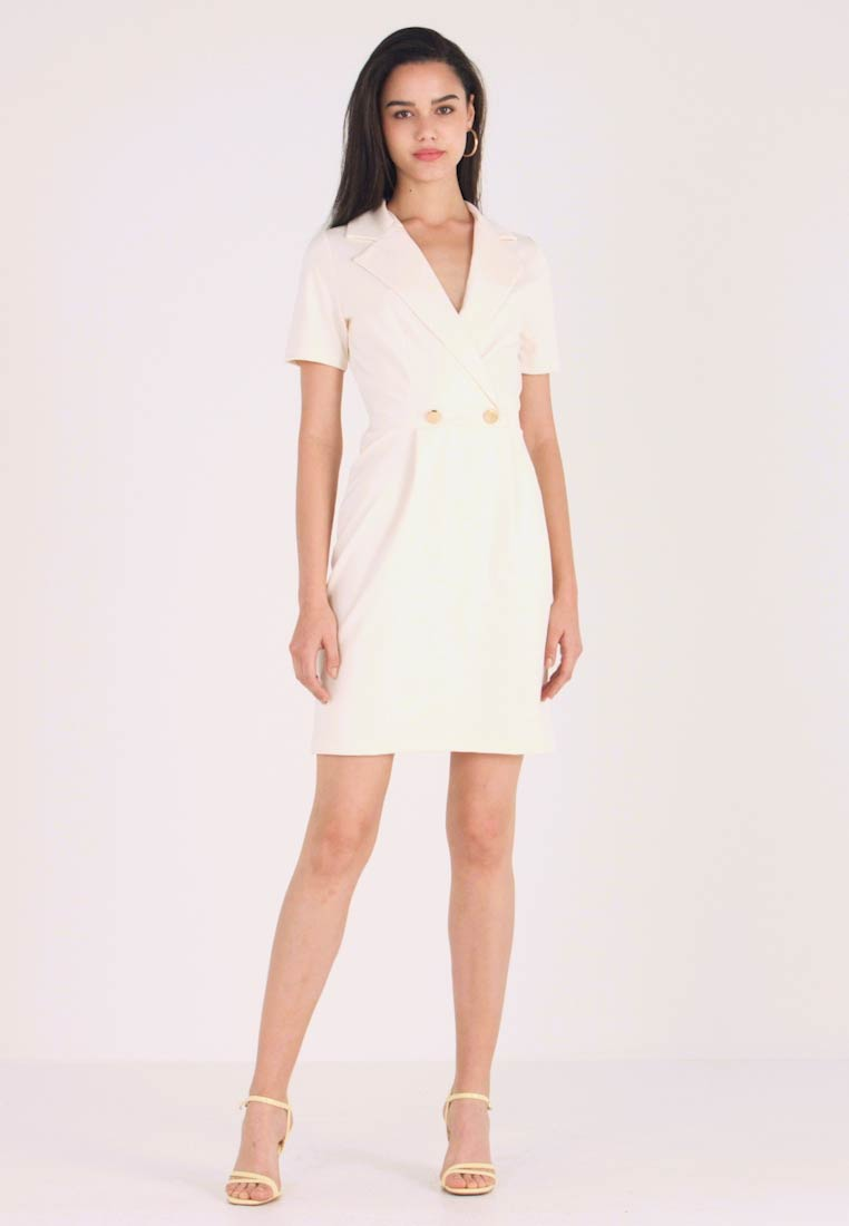 Even&Odd - TUXEDO DRESS  - Jerseyklänning - off-white