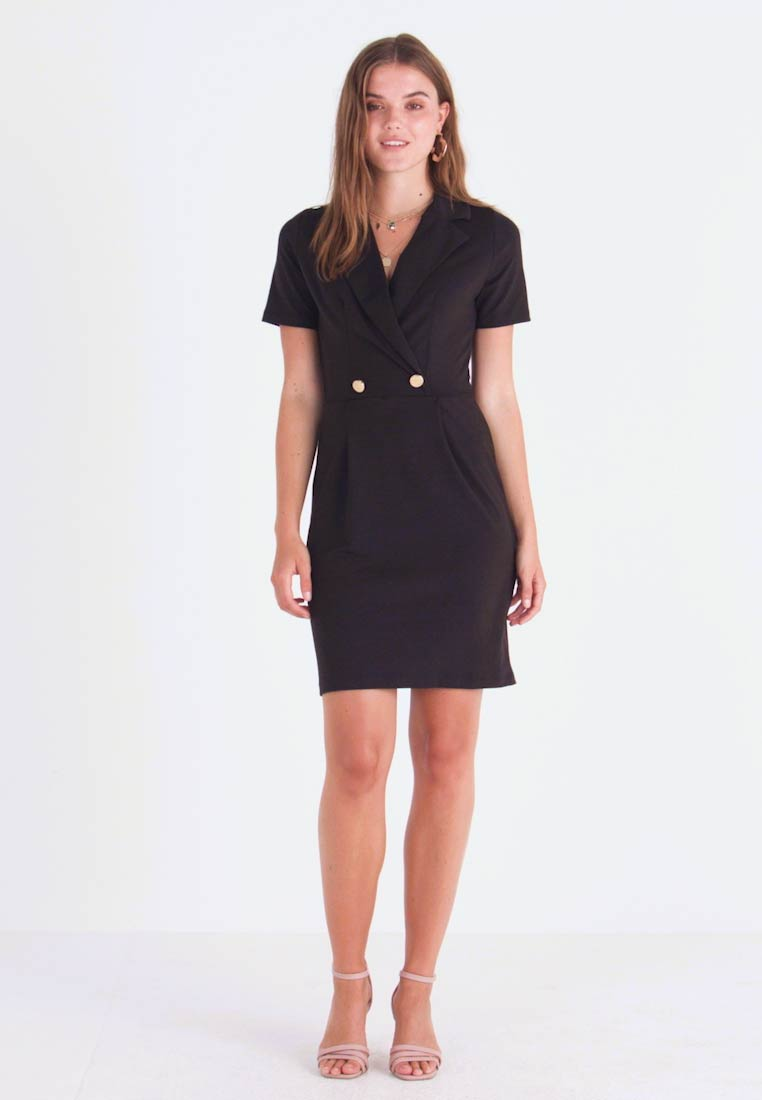 Even&Odd - TUXEDO DRESS  - Jerseykjoler - black