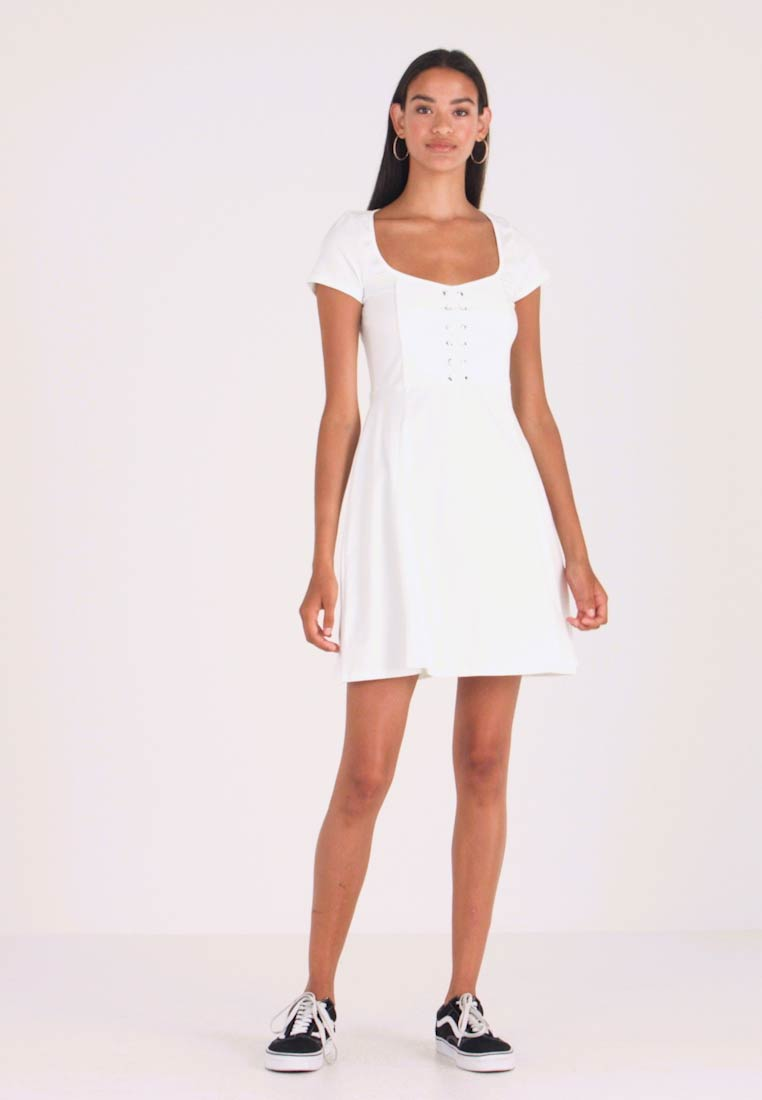 Even&Odd - Jerseykleid - white