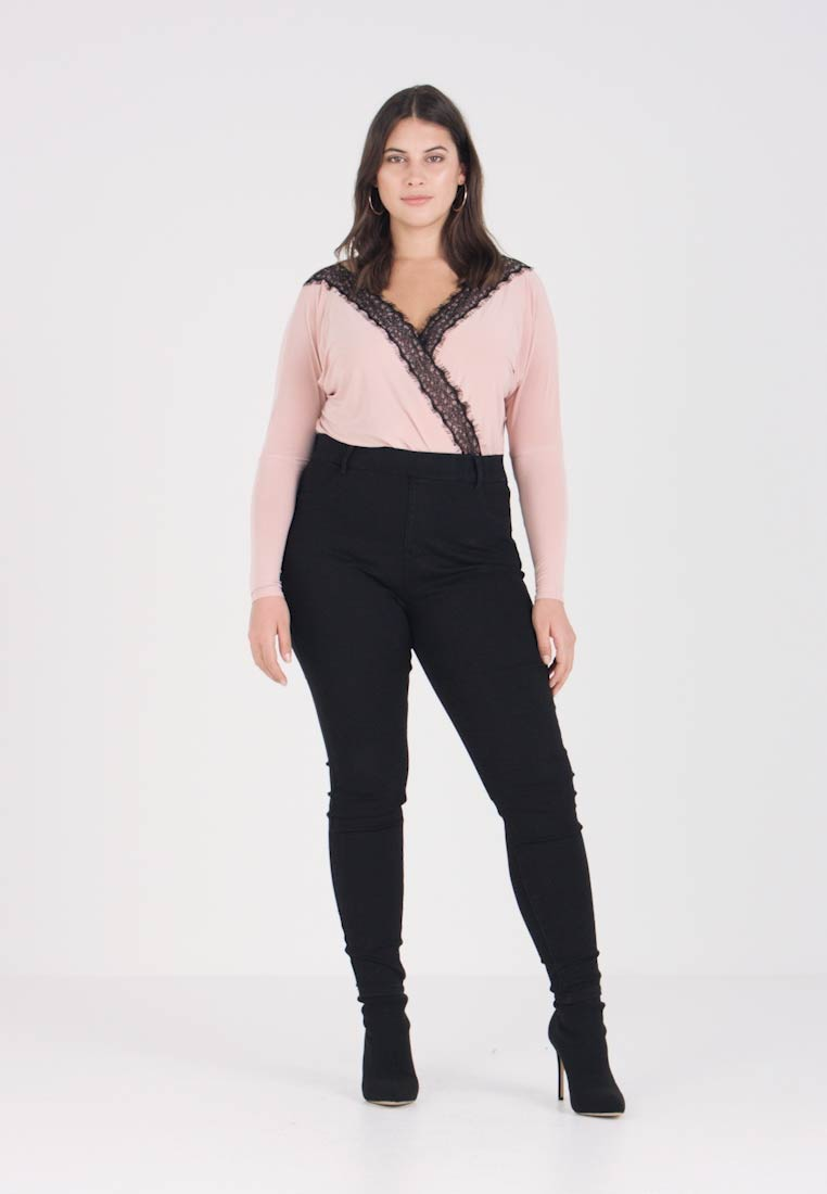 Even&Odd Curvy - Farkkuleggingsit - black