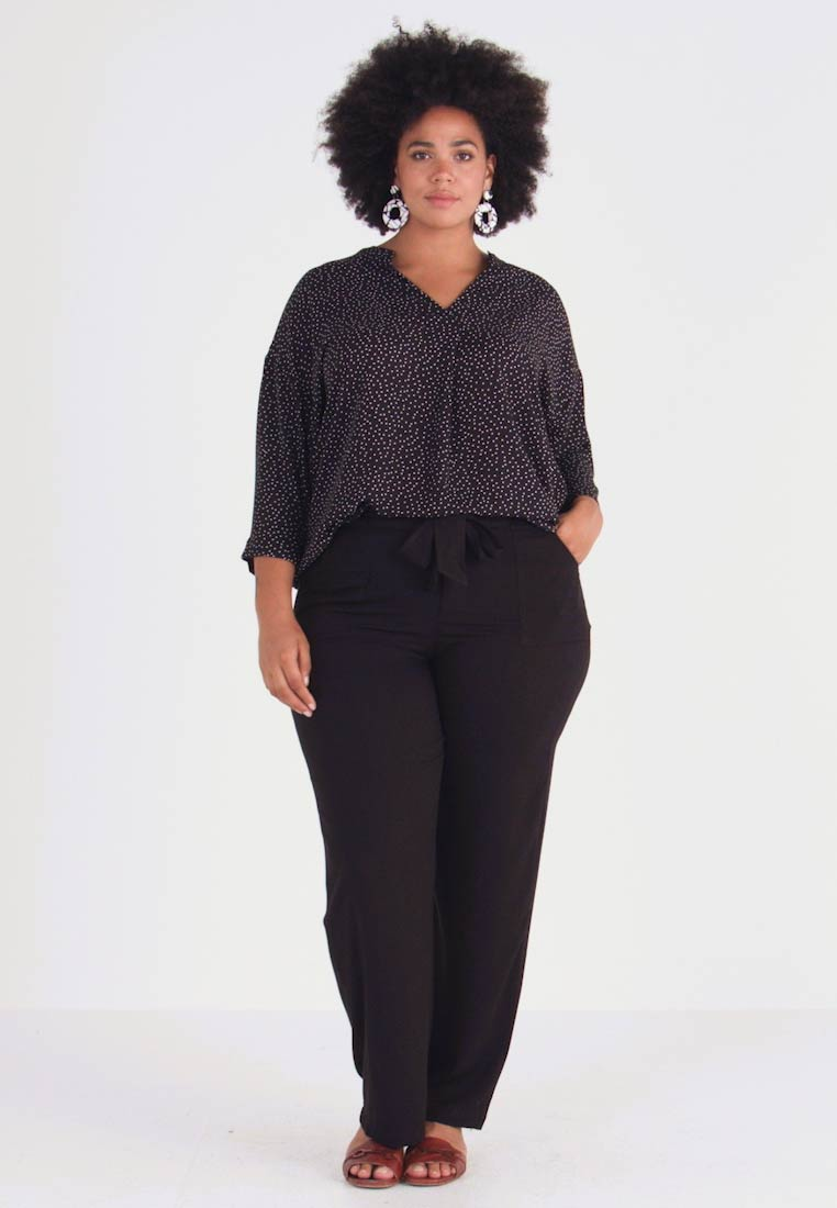 Evans - BELTED TROUSERS - Stoffhose - black