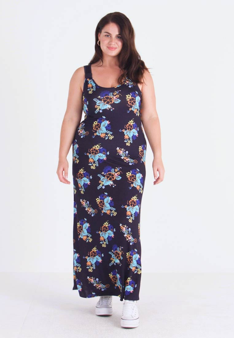 Evans - NAVY FLORAL DRESS - Maxikleid - multi