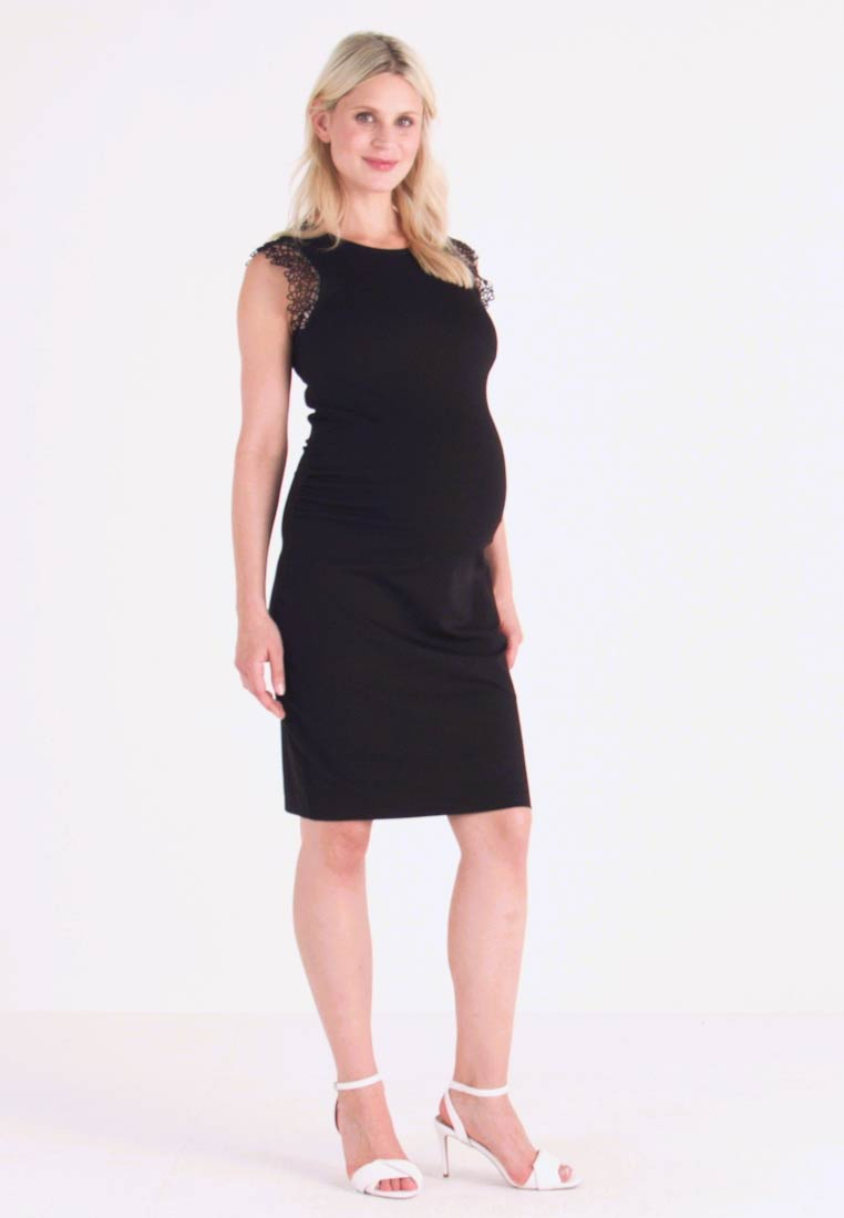 Anna Field MAMA - Jersey dress - black