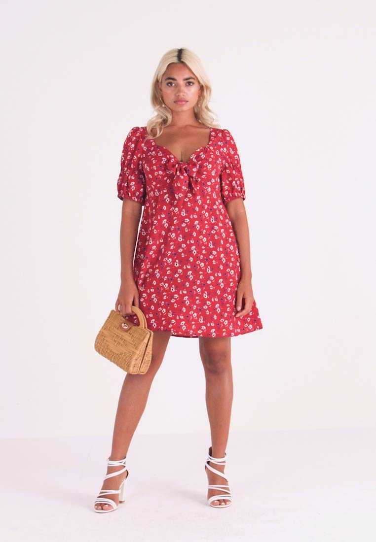 Fashion Union Petite - ROMINA - Day dress - red