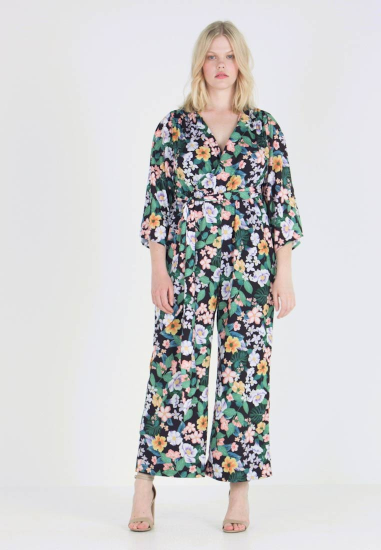 Fashion Union Plus - WRAP IN FLORAL PRINT - Overall / Jumpsuit /Buksedragter - tropical jungle