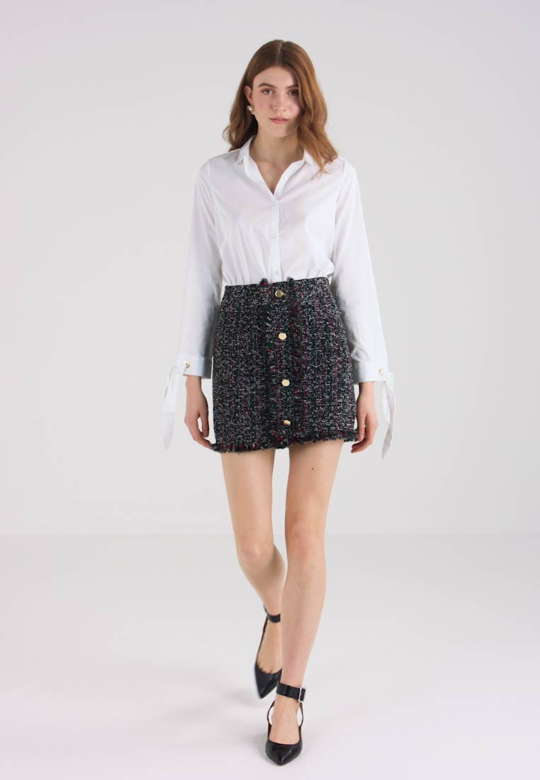 Springfield - FALDA TWEED - Mini skirt - greys