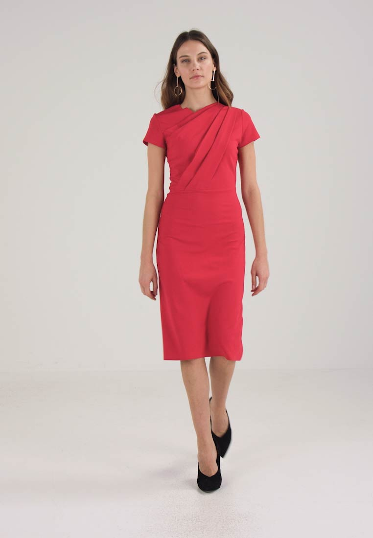 Finery London MILLER STRUCTURED DRESS - Hverdagskjole - cherry red