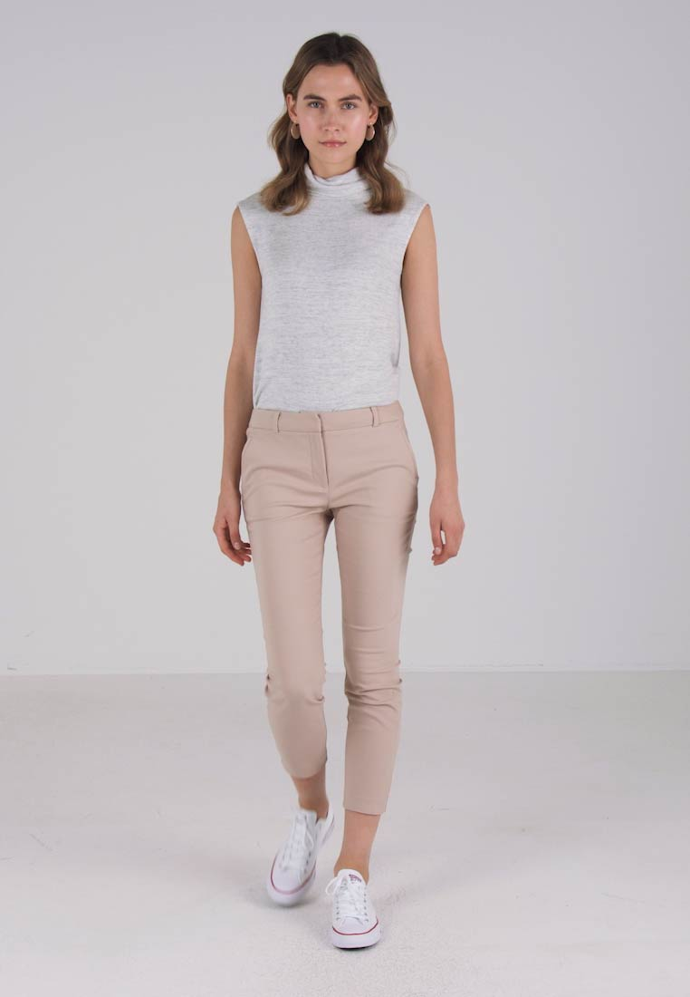 Forever New GRACE SLIM PANTS - Bukser - oatmeal