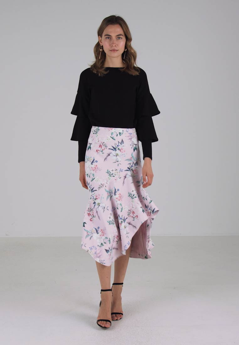 Forever New DRAPED MIDI SKIRT - Jupe longue - pink