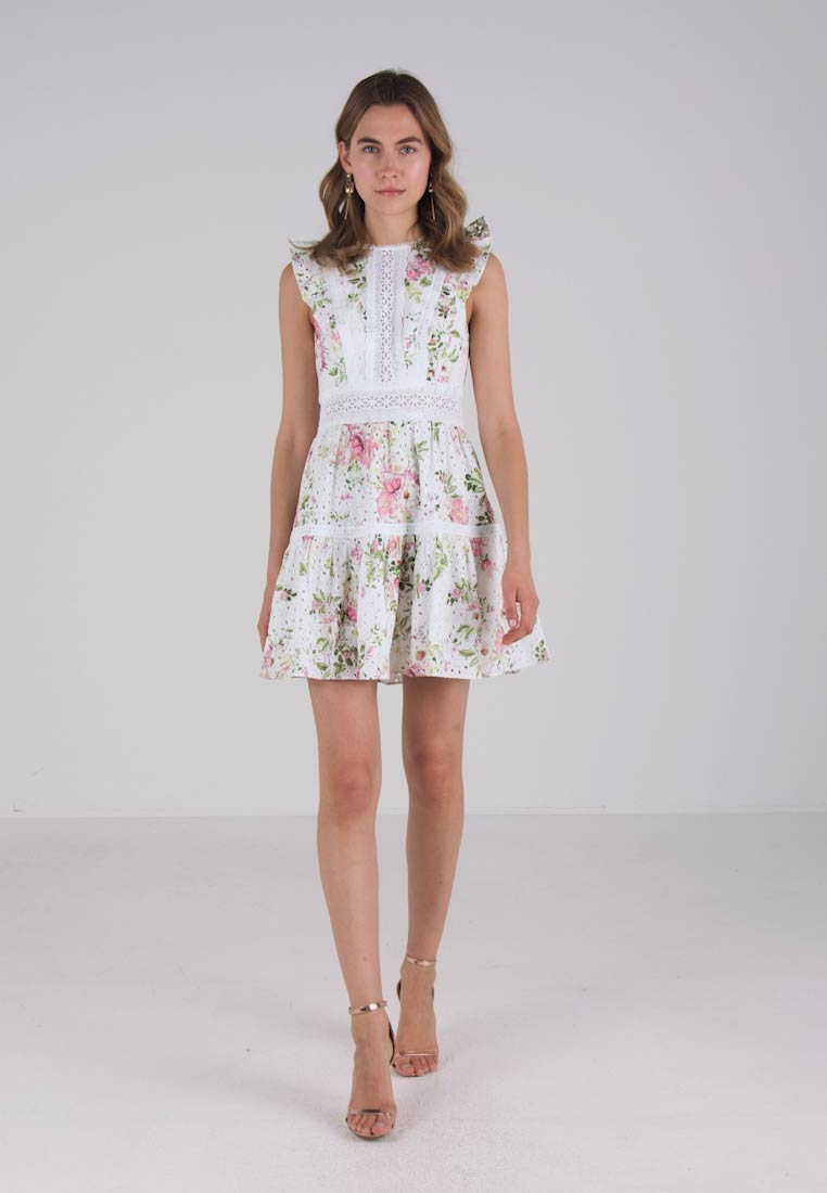 Forever Sommerkjole BRODERIE DRESS New PRINED rwWBx14qr7