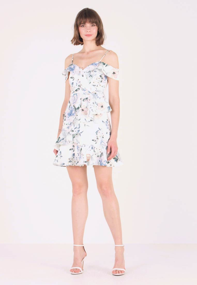 Forever New - KELLY RUFFLE DRESS - Hverdagskjoler - porcelain